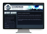 Soundman Productions website designed by The Graphic Garden Design Studio