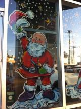 santa elf window paintings graphic garden design studio santa elf window paintings graphic