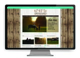 Hairy Back Ranch website design by The Graphic Garden Design Studio