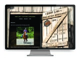 Sandy Lang website designed by The Graphic Garden Design Studio